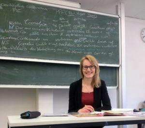 Unsere Fachlehrerin für Latein Kristina